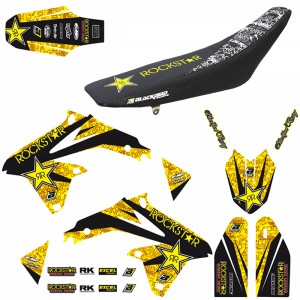 Blackbird Rockstar Stickerset en zadelovertrek - Suzuki RMZ450