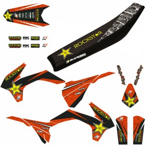 Blackbird Rockstar Stickerset en zadelovertrek - KTM