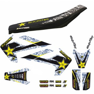 Blackbird Rockstar Stickerset en zadelovertrek - Husqvarna