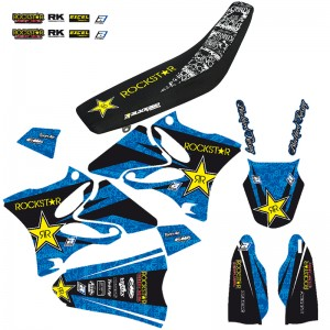 Blackbird Rockstar Stickerset en zadelovertrek - Yamaha YZ125 YZ250