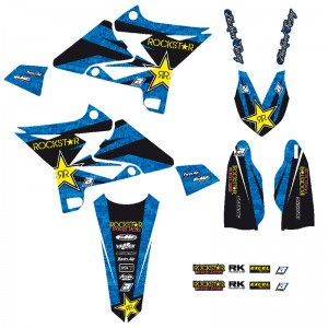 Blackbird Rockstar Stickerset - Yamaha YZ125-UFO-4TRestyleKit YZ250-UFO-4TRestyleKit