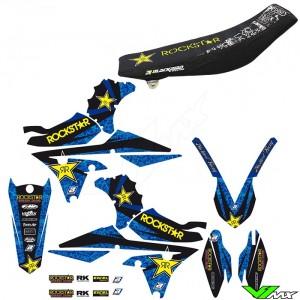 Blackbird Rockstar Stickerset en zadelovertrek - Yamaha YZF250 YZF450 WR250F WR450F