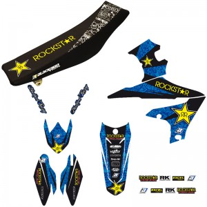 Blackbird Rockstar Stickerset en zadelovertrek - Yamaha YZF450
