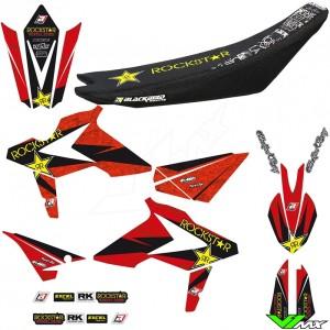 Blackbird Rockstar Stickerset en zadelovertrek - Beta RR250-2T RR300-2T RR350-4T RR390-4T RR430-4T RR480-4T