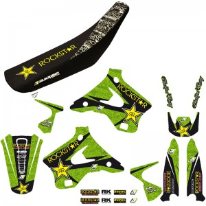 Blackbird Rockstar Stickerset en zadelovertrek - Kawasaki KX125 KX250