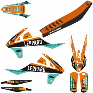 Blackbird Replica Marchetti Racing Team 2018 Stickerset en zadelovertrek - KTM
