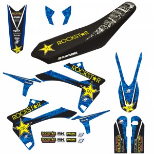 Blackbird Rockstar Stickerset en zadelovertrek - Sherco 250SE 300SE 250SEF 300SEF 450SEF