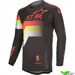 Alpinestars Techstar Venom 2020 Motocross Jersey - Black / Fluo Yellow / Fluo Red