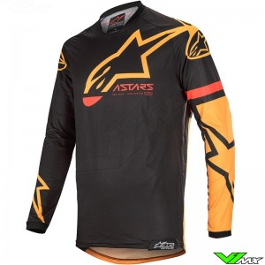 Alpinestars Racer Tech Compass 2020 Cross shirt - Zwart / Oranje