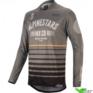 Alpinestars Racer Tech Flagship 2020 Motocross Jersey - Grey / Black / Orange