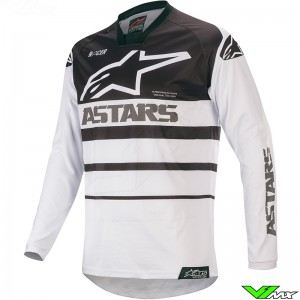Alpinestars Racer Supermatic 2020 Motocross Jersey - White / Black