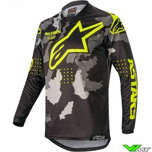 Alpinestars Racer Tactical 2020 Cross shirt - Zwart / Camo / Fluo Geel