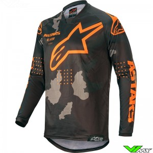 Alpinestars Racer Tactical 2020 Cross shirt - Zwart / Camo / Fluo Oranje