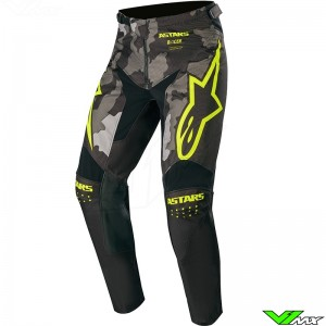 Alpinestars Racer Tactical 2020 Motocross Pants - Black / Camo / Fluo Yellow