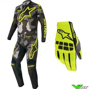 Alpinestars Racer Tactical 2020 Crosspak - Zwart / Camo / Fluo Geel