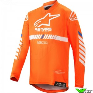 Alpinestars Racer Tech 2020 Kinder Cross shirt - Fluo Oranje