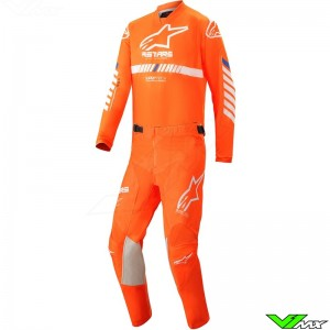 Alpinestars Racer Tech 2020 Youth Motocross Gear Combo - Fluo Orange