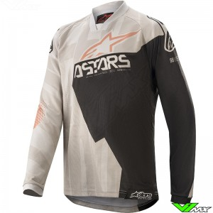 Alpinestars Racer Factory 2020 Youth Motocross Jersey - Grey / Black / Metaal