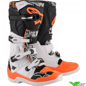 Alpinestars Tech 5 Motocross Boots - White / Black / Orange