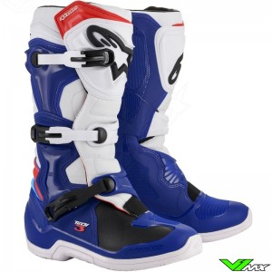 Alpinestars Tech 3 Motocross Boots - Blue / White / Red