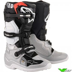 Alpinestars Tech 7s Youth Motocross Boots - Black / Silver