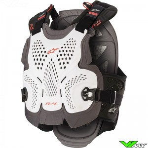 Alpinestars A4 Max Bodyprotector - Wit / Rood