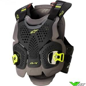 Alpinestars A4 Max Bodyprotector - Zwart / Fluo Geel