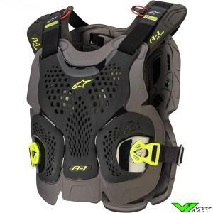 Alpinestars A1 Plus Bodyprotector - Zwart / Fluo Geel