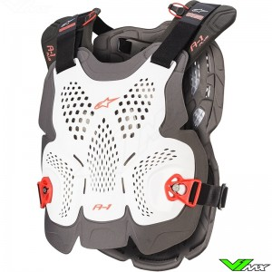 Alpinestars A1 Plus Bodyprotector - Wit / Rood