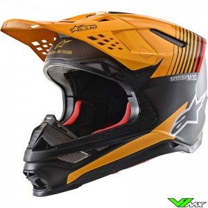 Alpinestars Supertech M10 Motocross Helmet - Dyno / Black / Carbon / Orange
