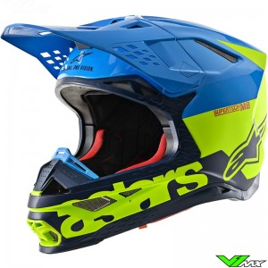 Alpinestars Supertech M8 Motocross Helmet - Radium / Blue / Fluo Yellow