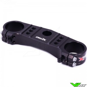 X-Trig Top Triple Clamp Black - Kawasaki KX85