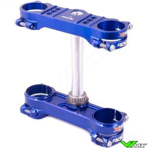 X-Trig ROCS Tech Triple Clamp Blue - Sherco 125SE 250SE 300SE 250SEF 300SEF 450SEF