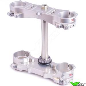 X-Trig ROCS Tech Triple Clamp Silver - Suzuki RMZ250 RMZ450