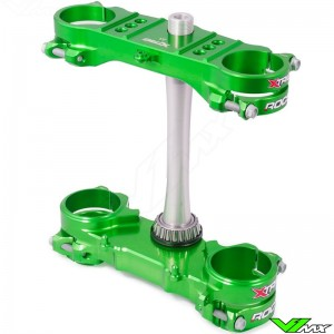X-Trig ROCS Tech Triple Clamp Green - Kawasaki KXF250 KXF450