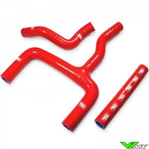 Samco Sport Radiator Hose Red - Beta RR125-2T
