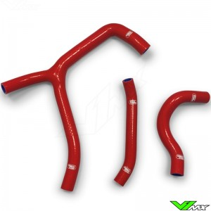Samco Sport Radiator Hose Red (Y-Piece Race Design) - Honda CRF250R
