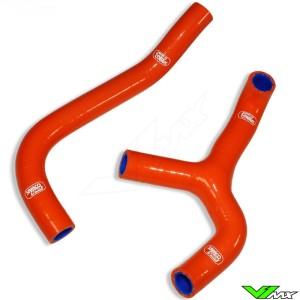 Samco Sport Radiator Hose Orange (Y-Piece Race Design) - KTM 65SX Husqvarna TC65