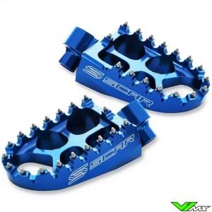 Scar Evolution Footpegs Blue - Kawasaki KXF250 KXF450 Honda CR125 CR250 CRF150R CRF250R CRF450R CRF450RX