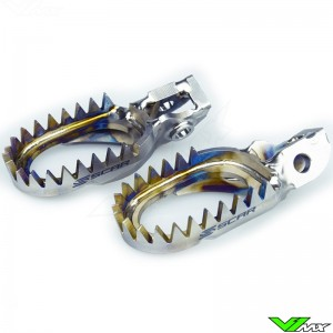 Scar Anti-Mud Titanium Footpegs - Honda CR125 CR250 CRF150R CRF250R CRF450R CRF450RX