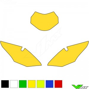 Blackbird Number plate backgrounds clean - Honda CRF450RX