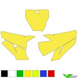 Blackbird Nummerplaat stickers leeg - Husqvarna FC250 FC350 FC450 TC125 TC250