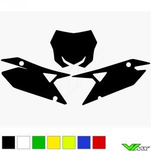 Blackbird Nummerplaat stickers leeg - Suzuki RMZ250 RMZ450