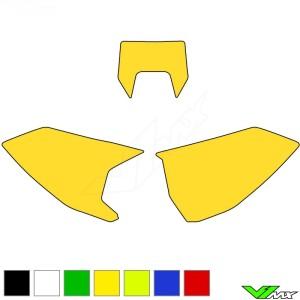 Blackbird Nummerplaat stickers leeg - Husqvarna FE250 FE350 FE450 FE501 TE150 TE250 TE300