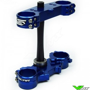 Scar Triple Clamp Blue - Yamaha YZ125