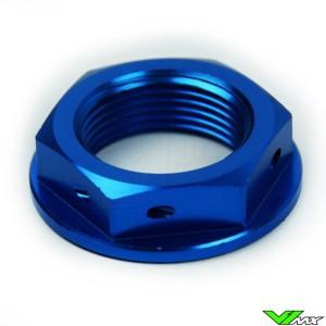 Scar Steering Stem Nut Blue - Kawasaki Suzuki Honda Yamaha