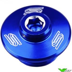 Scar Oil Filler Plug Blue - Kawasaki KXF250 KXF450 KLX450