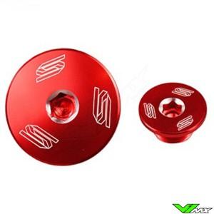 Scar Engine Plugs Red - Honda CRF150R CRF250R CRF450R CRF250RX CRF450X CRF450RX