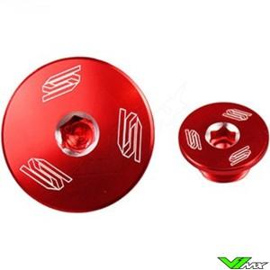 Scar Engine Plugs Red - Kawasaki KXF250 KXF450 KLX450