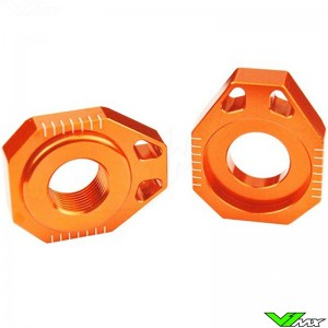 Scar Rear Axel Adjuster Blocks Orange - KTM Husqvarna